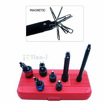 "7PC 3/8"" & 1/2"" DR. IMPACT ACCESSORIES SET (MAGNETIC)"